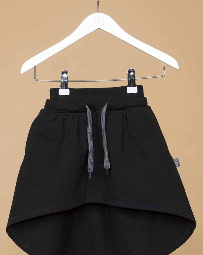 Longer back skirt BLACK