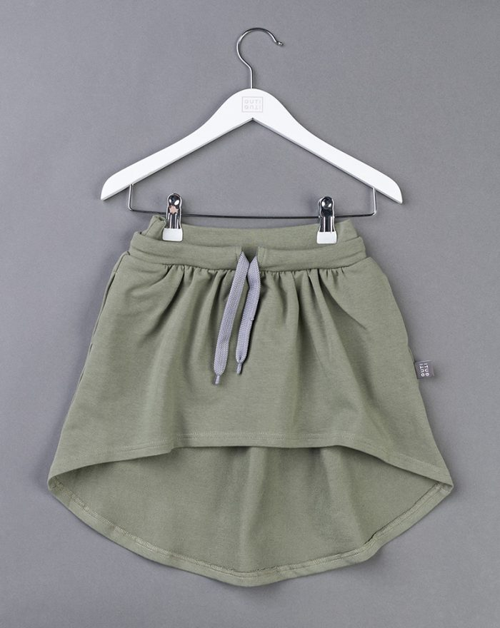 Longer back skirt KHAKI