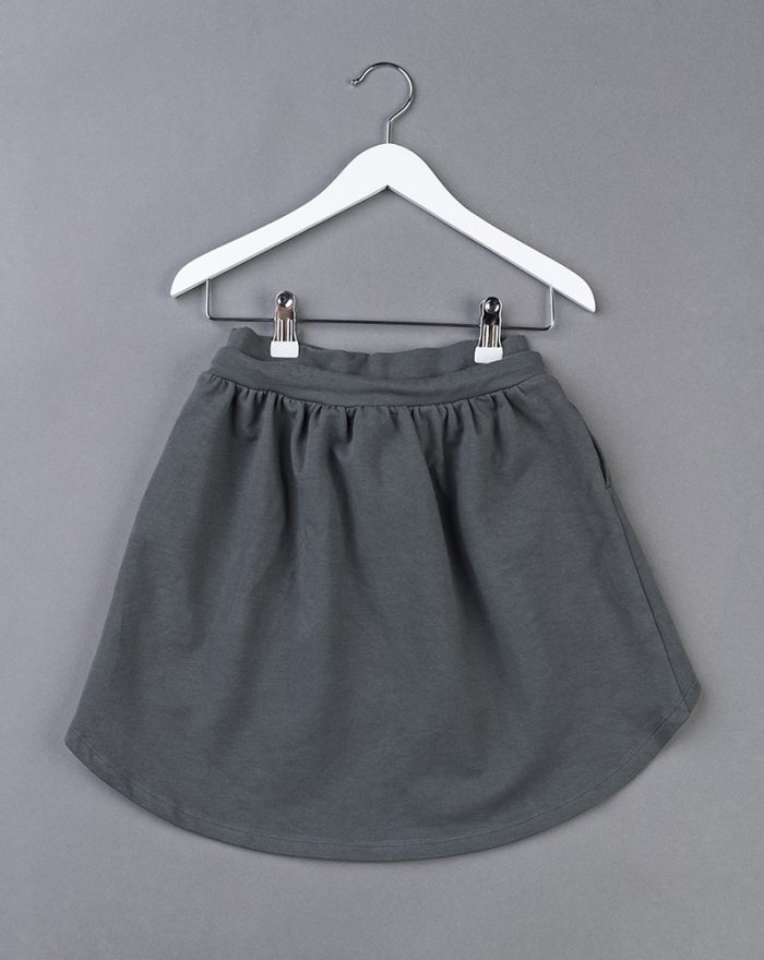Longer back skirt GREY