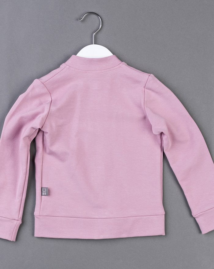 Zipped bomber top PINK